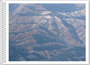 Vue aérienne vol retour